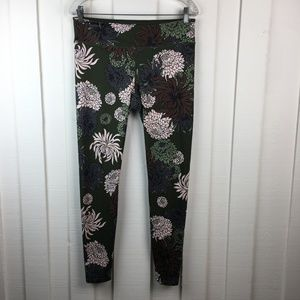 Joy Lab Green Floral Leggings